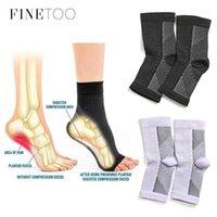 Finetoo nefes almış ayak kol çorap erkekler 1 çift ayak melek anti yorgunluk outerdoor kadın çorap sıkıştırma çorap spor S-XL1
