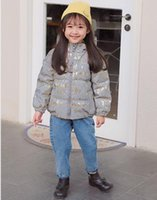 Wholesale girls and boys night reflective children's winter down jacket warm jacket