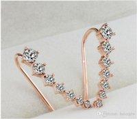 أقراط للنساء هدية الأزياء كريستال جديدة أقراط الأذن هوك مجوهرات مسمار الأقراط