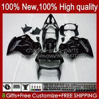 Bodys für Honda Interceptor VFR800RR 1998 1999 2000 2001 Körperarbeit 99HC.6 Schwarz Glossy VFR800R VFR 800RR 800 RR VFR800 98 99 00 01 Verkleidung