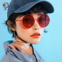 Óculos de sol grande quadro redondo rosto feminino retro viga dupla sílica gel macio pads antiderrapante templo1