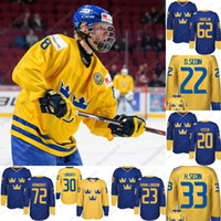 # 8 Rasmus Dahlin 2016 Equipo de la Copa Mundial Suecia Jerseys de hockey Kruger Ekholm Forsberg Stralman Hjalmarsson Landeskog Hedman Hockey Custom Hockey Jersey