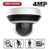 HikVision OEM 4MP PoE PTZ Cámara IP Cómica 4x Zoom óptico Outdoor / Poe de interior Cámara de seguridad Audio ONVIF IP66 Detección de movimiento1