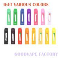 Authenti Iget Janna Einweg-E-Zigaretten-Pod-Gerät 280mAh 1.6ml 450 Puffs Vape Stick Pen 16 Farben Option 100% Original EciG Kit