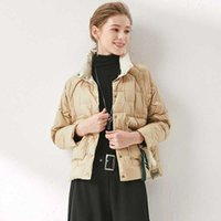 Women's Down & Parkas Women Est Stand Collar Short Duck Jacket Female Fashion Slim Warm Coat Lady Winter Europe And America Jackets
