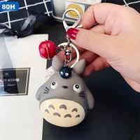 Chaveiros Moda Bonito Kawaii Gatinho Chaveiro Chaveiro Anime Totoro Keychain Criativo Bruxeto Charme Mulheres Menina Keyring