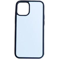 Caja de teléfono suave de la sublimación en blanco 2D + PC para iPhone 12 Mini Pro Max 11 Pro Max XR x XS MAX para Samsung S21 S21ULTRA con inserciones de aluminio