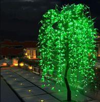 LED yapay söğüt ağlayan ağaç ışık açık kullanım h 2 m / 1152leds yükseklik yağmur geçirmez Noel dekorasyon ağacı