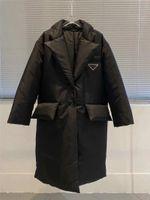 여자 자켓 아래로 파카 롱 코트 겨울 스타일 Betl 코르셋 레이디 슬림 패션 자켓 포켓 따뜻한 코트