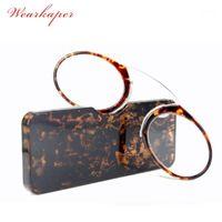 Occhiali da sole wauraskaper retro naso naso pinching portatile da lettura occhiali da vista portafoglio con scatola prescrizione occhiali da 1,0 a 3.51