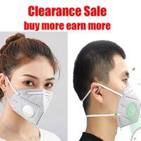 KN95 Máscara Liberação Venda Cabeçalho à prova de poeira à prova de poeira à prova de máscara de rosto respirável Aparência de ações comprar mais