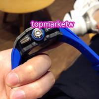 Hohe Qualität Hersteller R Top Version RM11-04 Ntpt Carbon-Faser-Kasten Skeleton Big Date Dial Japan Miyota Automatik RM 11-04 Herrenuhr Rub