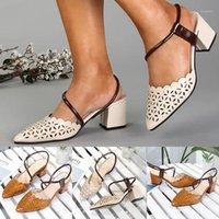 الصيف النساء الصنادل أحذية عالية الكعب أشار تو الانزلاق على الصنادل أزياء السيدات نمط الرومانية عارضة الأحذية حجم 35-39 T9 # 1