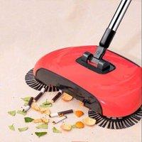 دفع اليد آلة كاسحة المنزلية كسول كاسحة مكنسة 360 درجة تدوير تنظيف أداة كاسحة دون كهرباء
