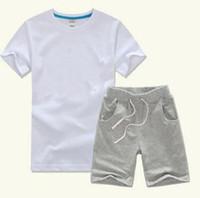 2019 горячие продажи классический новый стиль 2-9 лет детская одежда для мальчиков и девочек спортивный костюм ребенка младенца с короткими рукавами одежда для детей