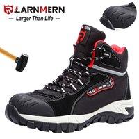 Ларнмерная мужская рабочая обувь Стальная носятная обувь для защитной обуви удобный легкий противоскользящий противоскользящий конструкция защитная обувь 201223
