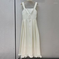 White Long Dress Spring Sexy Spaghetti Strap Brand Dress 202...