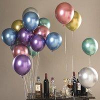 2Factory 직접 10 인치 금속 라텍스 풍선 1.8g 두꺼운 진주 빛 금속 공 웨딩 파티 장식 생일 장식 풍선 2