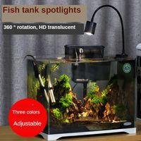 Fish Tank LED Lamp Aquatic Grass Lamp Led Aquarium Lighting Aquarium Lights Turtle Lizard Lamp 110-220V Three Colors Adjustable Y200917