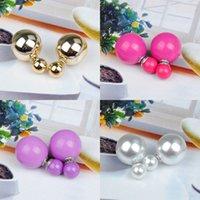 Crystal Fashion Hot Selling Lindo Pendientes Brillantes Pearl Ball Stud Pendientes Pendientes de perlas grandes para las mujeres Regalo Venta al por mayor Pearl Jewelry 4 J2