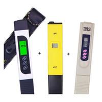 Yeni LCD Ekran EC TDS Metre ile Arka Işık + PH Test Cihazı ATC + TDS Monitör PPM Sopa Su Saflığı Su Kalitesi Testi