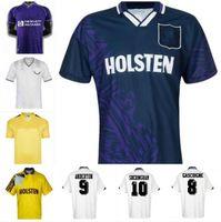 Klinsmann 1990 1998 1991 1982 Retro Gascoigne Anderton Sheringham Tottenham Ginola Ferdinand Futbol Jersey Centenary Jersey Üniformaları