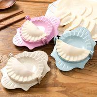 Herramientas de albóndolas Herramientas de cocina Prensa Molde de bola de masa Molde de piel Herramientas perezosas Conjunto de hogar Flower Dumpling Maker XD24480