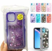 Bataklık Şeffaf Bling sıvı Glitter Koruyucu Kapak Darbeye Cep Telefonu Kılıf iPhone XS XR 11 Samsung S20 MAX 12 PRO artı