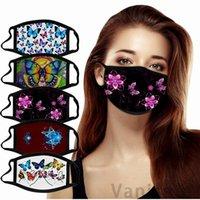 코튼 2021 해피 뉴 이어 마스크 패션 세탁 가능한 디자이너 헝겊 얼굴 먼지 마스크 여성을위한 성인 선물 200pcs T1i3377