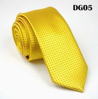 SCST Brand New Classic Dot Impressão Amarelo Ouro Sorrido Sorrido Gravatas Para Homens Gravata de Casamento 6cm Gravatas Skinny Slim Gravata Gravata Cr0361