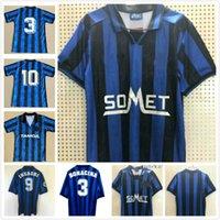 Retro Atalanta 1996-97 Jerseys de futebol Inzaghi Lentini Clássico Futbol Vintage Futebol Camiseta Camisa Kit Maillot Maglia