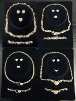 12 Ensembles / Boîtes Boucles d'oreilles pour femmes Bijoux Colliers Colliers Colliers Ensemble Boucles d'oreilles 14K Gold Plated Bijoux Ensemble Pour Femmes Mariage Jewelries