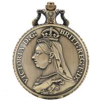1888 Britt Horse Sword Bronze Coin Quartz Bolso Relógio Vintage Antique The Crafts Victoria D: G: Britt: Reg: F: D: Collectibles de arte