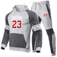 Marke Mode Männer Kleidung Trainingsanzug Herren Patchwork Sport Set Hoodie Hosen 2 Stück / Sets Sweatshirt Gym Fitness Workout Laufender Anzug