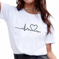 2021 New Harajuku Love Print Women T shirts Casual Tee Tops ...