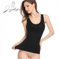 JoyShaper Frauen nahtlose Shapewear u Neck Abnehmen Camisole Unterwäsche Tank Tops Body Shaper Cami Nylon Spandex Mischung schwarz