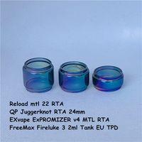 Freemax Fireluke 3 Tank EU TPD QP JUGGERKNOT 24mm Ricarica MTL 22 Exvape Expromeranzer V4 MTL RTA Rainbow Glass Bulb Tube 2ml 4ml