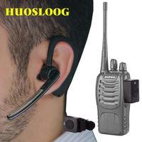 Walkie Talkie Huosloog fone de ouvido sem fio Bluetooth Dois way fone de ouvido de fone de ouvido para Baofeng