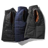 Rivestimento del motociclo più velluto spessore vello grande formato Vest Uomini Cappotti inverno caldo panciotto casuale della maglia senza maniche per Uomo