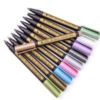 10 Farben Farbkunstmarkierungen Set Manga Zeichnung Marker Stift Wasserbasis Pensionsstift Aquarell Kunstbedarf VTKY2297