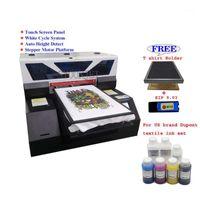 Yazıcılar Otomatik DTG A3 Koyu T-Shirt Yazıcı Dokunmatik Ekran Kot Tekstil Kumaş Baskı Makinesi Ile İle Marka DuPont Mürekkep Seti1