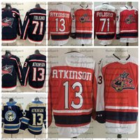2021 Reverse Retro Columbus Blue Jackets Hockey Jerseys 71 Nick Foligno (C) 13 Cam Atkinson Red Hockey Jerseys Statched Shirts
