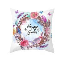 Paskalya Yastık Kılıfı Bunny Yumurta Tavşan Yastık Kapak 45x45 cm Mutlu Paskalya Dekorasyon Ev Doğum Günü Partisi Hediyeler Için Çocuklar için 106 K2