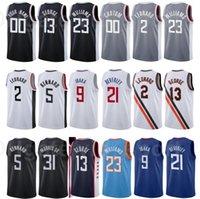 Imprimir Baloncesto Lou Williams Jersey 23 Patrick Beverley 21 Kawhi Leonard 2 Paul George 13 Serge Ibaka 9 Blue Black City Ganed Edition