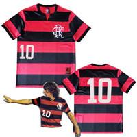 1978 1979 Flamengo الرجعية Soccer Jerey 78 79 Flightri Zico Tita Júnior Leandro خمر كلاسيكي لكرة القدم قميص