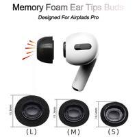 Buller Isolera Memory Foam Ear Tips för AirPods Pro Replacement Earphuds Skydd Skyddande hörlurar Öronproppar för Apple AirPods Pro