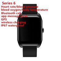 goophone سلسلة 6 IP67 للماء سمارت ووتش 44mm وGPS معدل ضربات القلب ضغط الدم MTK2503 ريلوخ inteligente لفون الروبوت الساعات الذكية