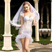 NOUVEAU Porno Femmes Lingerie Sexy Chaud Robe de mariée érotique Sexy Cosplay Blanc Tenue Sexy Sous-vêtements Erotique Lingerie Porno Costumes 63251