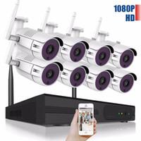 Система видеонаблюдения 4CH CCTV 1080P Wifi камеры системы 8CH Видео Surveillance Kit H.265 Главная Безопасность беспроводной камеры водонепроницаемый