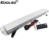 """Koolgo 47 """"88W 88 LED Lavoro Light Top Tetto di recupero di emergenza Beacon Lampeggiante Strobe Light Bar Segnale Lampada Segnale Rosso Blu Amber White1"""